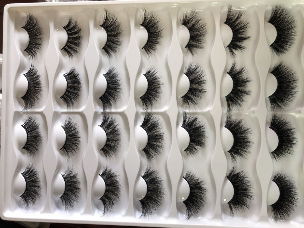 wholesale 100% handmade mink eyelashes private label 3d mink lashes 25mm-27mm